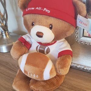🐻 Gund Teddy Bear 🐻: Little All-Pro w/rattle